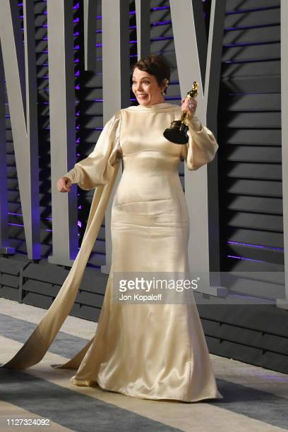 Olivia Colman winner of Best Actress attends the 2019 Vanity Fair Oscar Party hosted by Radhika Jones at Wallis Annenberg Center for the Performing...
