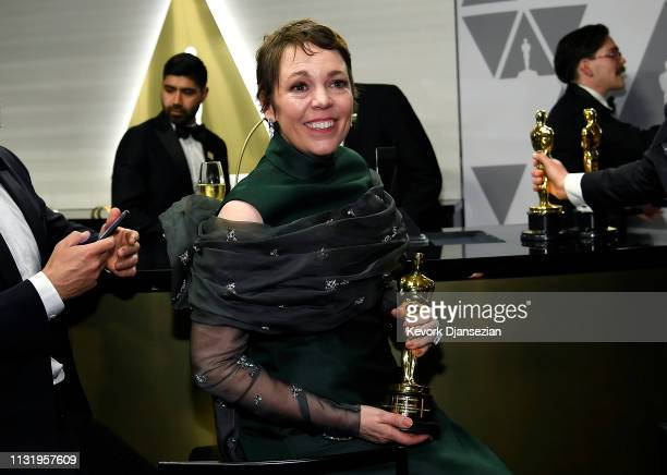 Olivia Colman winner of Best Actress for 'The Favourite' attends the 91st Annual Academy Awards Governors Ball at Hollywood and Highland on February...