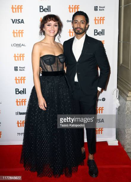 """Olivia Cooke and Riz Ahmed attend the """"Sound Of Metal"""" premiere during the 2019 Toronto International Film Festival at Winter Garden Theatre on..."""