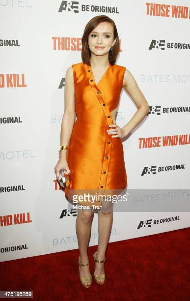 Olivia Cooke arrives at the premiere party for AE's season 2 of 'Bates Motel' and series premiere of 'Those Who Kill' held at Warwick on February 26...