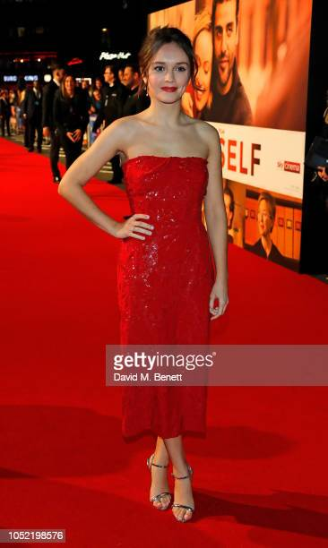 """Olivia Cooke attends the European Premiere and & Royal Bank of Canada Gala screening of """"Life Itself"""" during the 62nd BFI London Film Festival on..."""