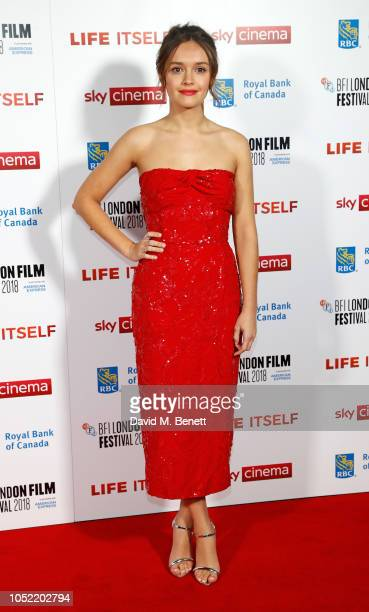 Olivia Cooke attends the European Premiere and Royal Bank of Canada Gala screening of Life Itself during the 62nd BFI London Film Festival on October...