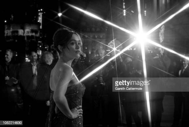 Olivia Cooke attends the European Premiere of 'Life Itself' Royal Bank of Canada Gala during the 62nd BFI London Film Festival on October 15 2018 in...