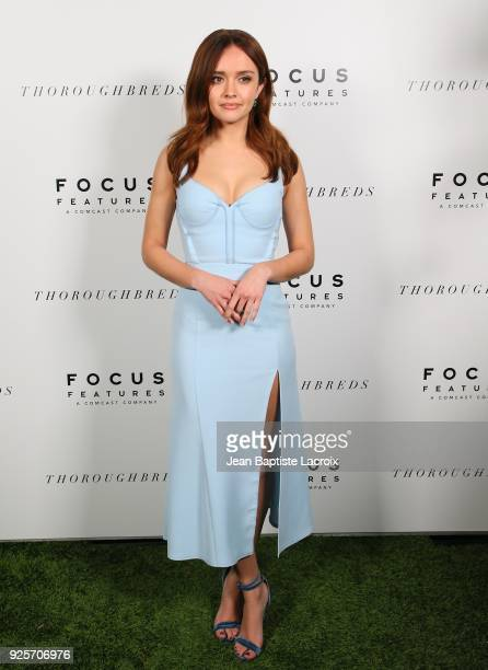 Olivia Cooke attends the Focus Features' 'Thoroughbreds' premiere on February 28 2018 in Los Angeles California