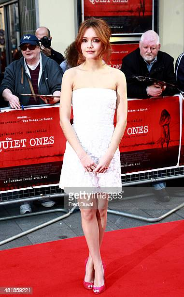 Olivia Cooke attends the UK film premiere of 'The Quiet Ones' at Odeon West End on April 1 2014 in London England