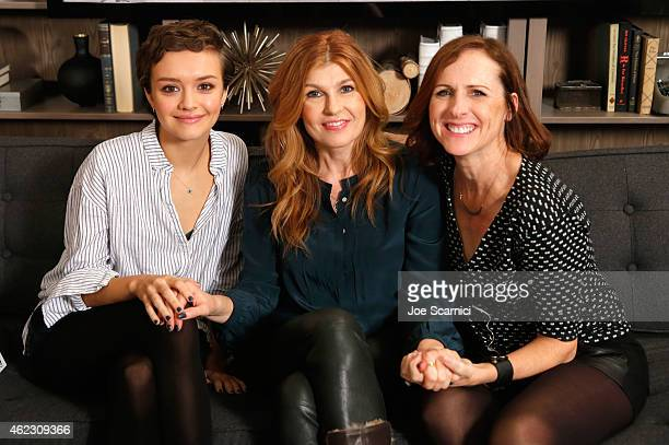 Olivia Cooke Connie Britton and Molly Shannon attend The Variety Studio At Sundance Presented By Dockers Day 3 on January 26 2015 in Park City Utah