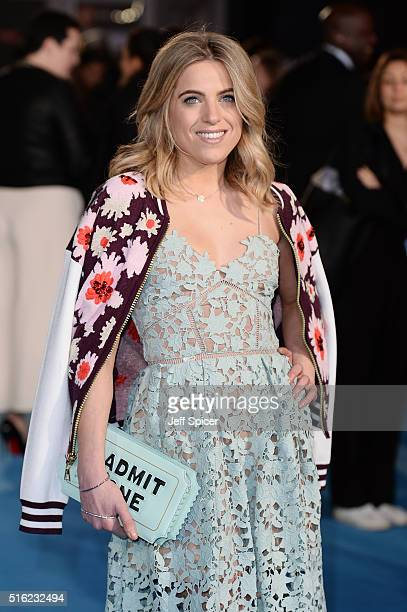 Olivia Cox arrives for the European premiere of 'Eddie The Eagle' at Odeon Leicester Square on March 17 2016 in London England