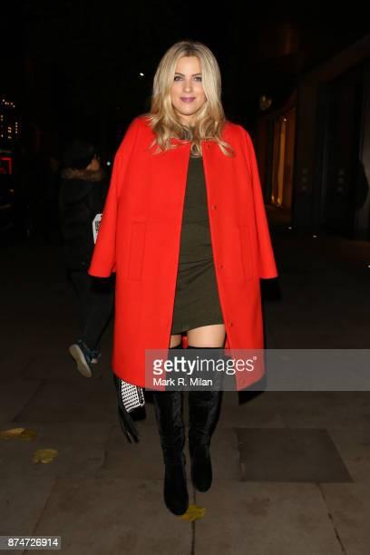 Olivia Cox at the Escada store on Sloane Street on November 15 2017 in London England