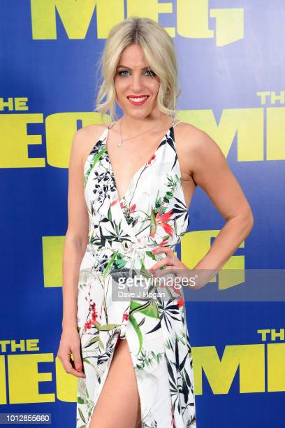 Olivia Cox attends a special screening of 'The Meg' at Brockwell Lido on August 7 2018 in London England