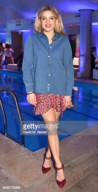 Olivia Cox attends the Club St Tropez Pool Party at The Haymarket Hotel on April 18 2018 in London England