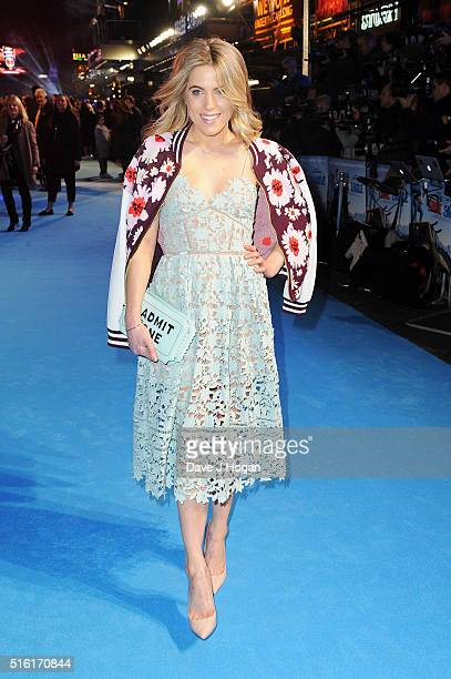 Olivia Cox attends the European premiere of 'Eddie The Eagle' at Odeon Leicester Square on March 17 2016 in London England