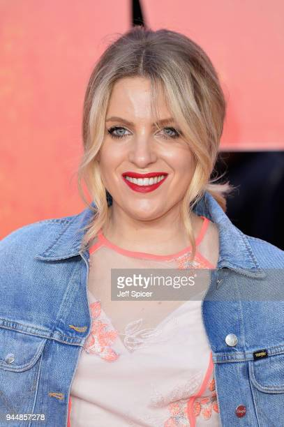 Olivia Cox attends the European Premiere of 'Rampage' at Cineworld Leicester Square on April 11 2018 in London England