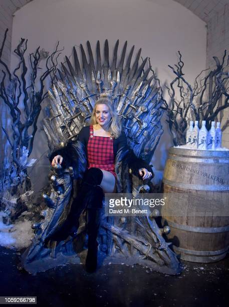 Olivia Cox attends the Johnnie Walker Frozen Forest popup in Shoreditch to celebrate the launch of the limitededition White Walker by Johnnie Walker...