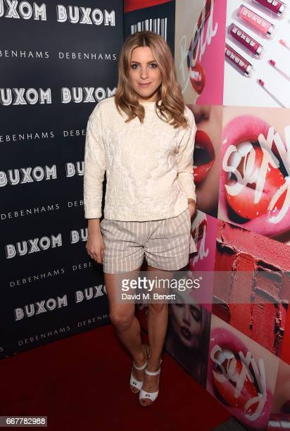 Olivia Cox attends the launch of Buxom Cosmetics at The Scotch of St James on April 12 2017 in London England