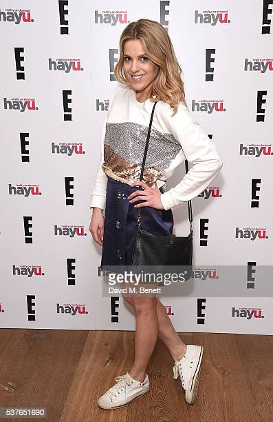Olivia Cox attends the launch of new US celebrity dating show 'Famously Single' featuring Calum Best on June 2 2016 in London England The show will...