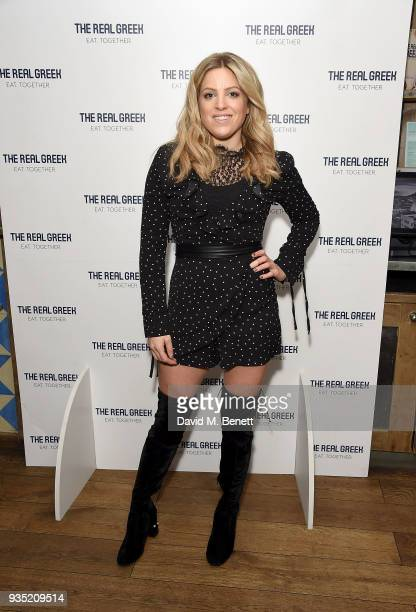 Olivia Cox attends the launch of The Real Greek's new Vegan Menu in Soho on March 20 2018 in London England