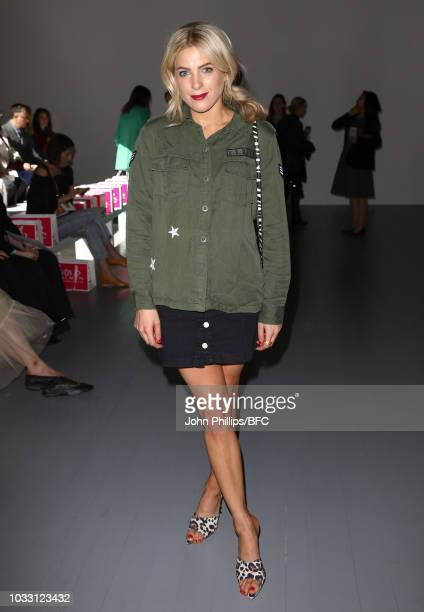 Olivia Cox attends the Marta Jakubowski Show during London Fashion Week September 2018 at The BFC Show Space on September 14 2018 in London England