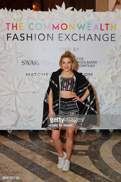 Olivia Cox attends the VIP preview of the Commonwealth Fashion Exchange exhibition at the High Commission of Australia on February 22 2018 in London...