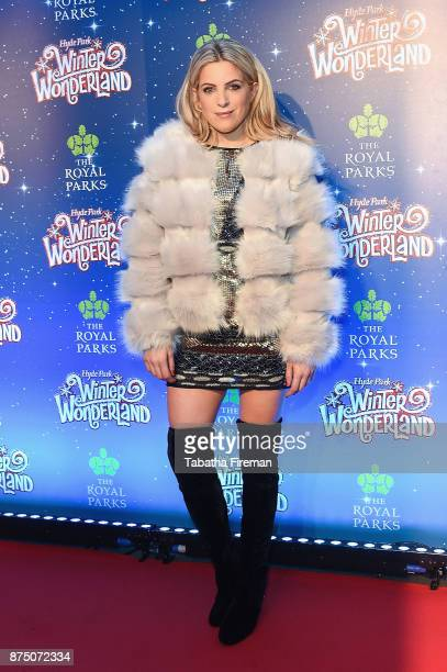 Olivia Cox attends the Winter Wonderland VIP launch night at Hyde Park on November 16 2017 in London England