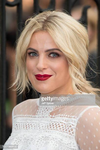 """Olivia Cox attends the World Premiere of """"The House With The Clock In Its Walls"""" at Westfield White City on September 5, 2018 in London, England."""