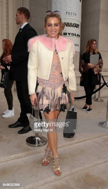 Olivia Cox seen at LFW s/s 2018 House of MEA catwalk show at Freemasons Hall during London Fashion Week September 2017 on September 17 2017 in London...