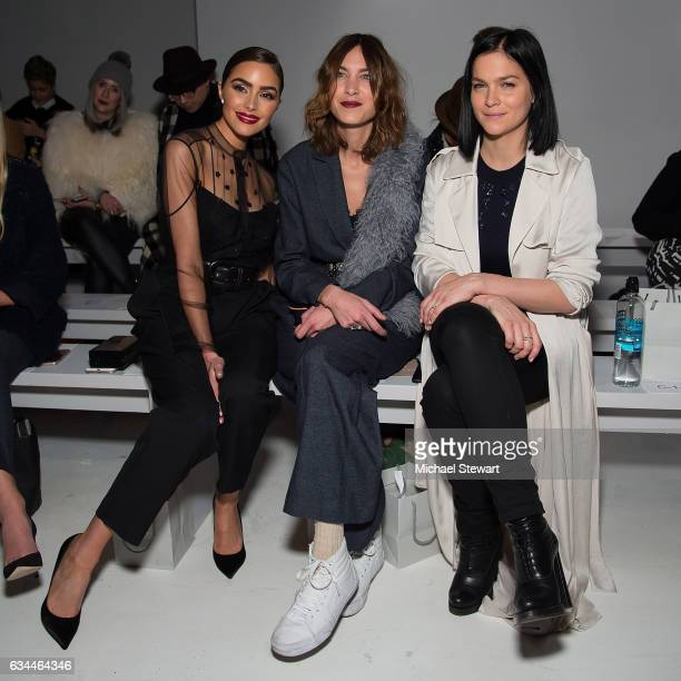 Olivia Culpo Alexa Chung and Leigh Lezark attend the Noon by Noor show during February 2017 New York Fashion Week The Shows at Gallery 3 Skylight...