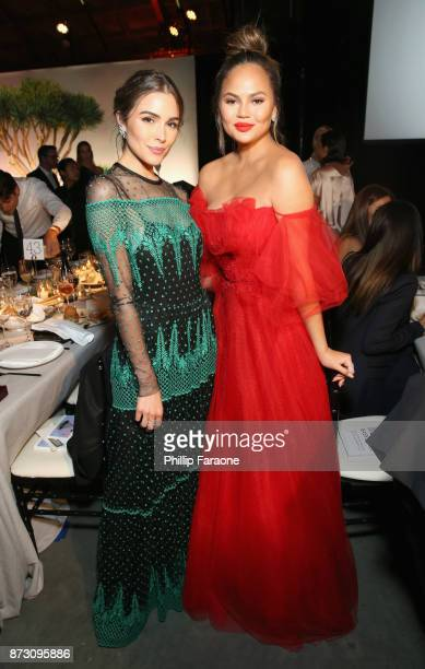 Olivia Culpo and Chrissy Teigen attends The 2017 Baby2Baby Gala presented by Paul Mitchell on November 11 2017 in Los Angeles California