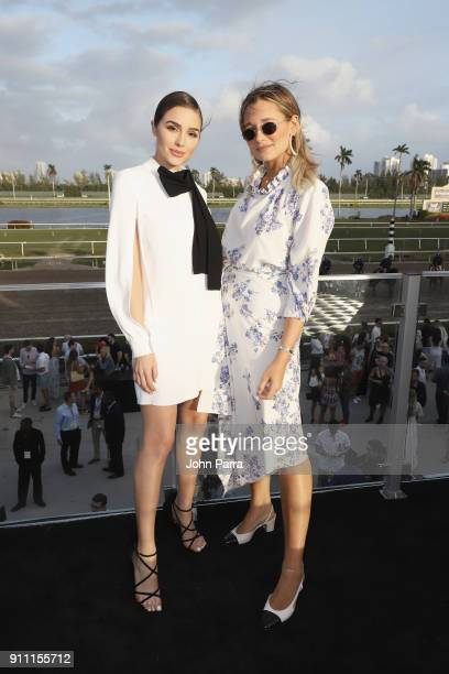 Olivia Culpo and Danielle Bernstein attend The $16 Million Pegasus World Cup Invitational The World's Richest Thoroughbred Horse Race at Gulfstream...