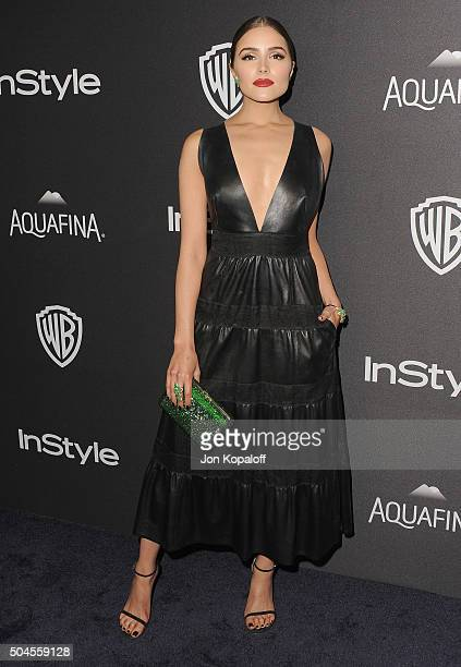Olivia Culpo arrives at the 2016 InStyle And Warner Bros 73rd Annual Golden Globe Awards PostParty at The Beverly Hilton Hotel on January 10 2016 in...