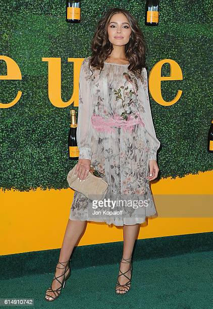 Olivia Culpo arrives at the 7th Annual Veuve Clicquot Polo Classic at Will Rogers State Historic Park on October 15 2016 in Pacific Palisades...