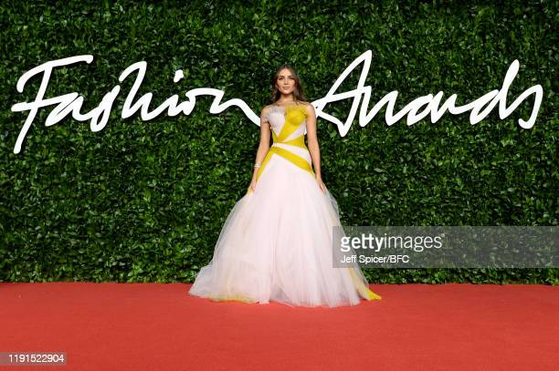 Olivia Culpo arrives at The Fashion Awards 2019 held at Royal Albert Hall on December 02 2019 in London England