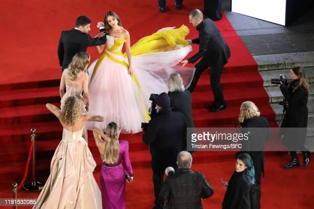 Olivia Culpo arrives at The Fashion Awards 2019 held at Royal Albert Hall on December 02 2019 in London England