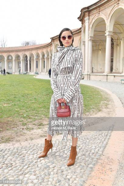 Olivia Culpo attend the Salvatore Ferragamo show during Milan Fashion Week Autumn/Winter 2019/20 on February 23 2019 in Milan Italy