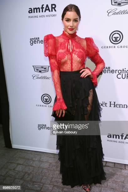 Olivia Culpo attends amfAR generationCURE Solstice 2017 at Mr Purple on June 20 2017 in New York City