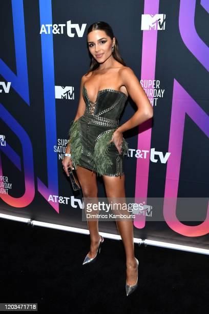 Olivia Culpo attends ATT TV Super Saturday Night at Meridian at Island Gardens on February 01 2020 in Miami Florida