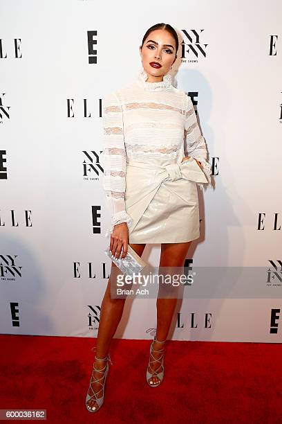 Olivia Culpo attends E! + ELLE + IMG Party to celebrate the opening of NYFW at Santina on September 7, 2016 in New York City.