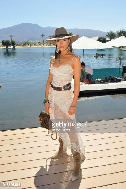 Olivia Culpo attends Republic Records and Dream Hotels Present 'The Estate' at Zenyara on April 14 2018 in Coachella California
