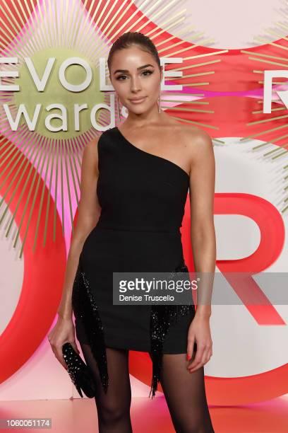 Olivia Culpo attends REVOLVE Presents: The 2nd Annual #REVOLVEawards at Palms Casino Resort on November 9, 2018 in Las Vegas, Nevada.