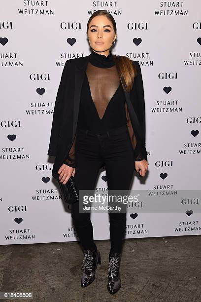 Olivia Culpo attends Stuart Weitzman's Launch Of The Gigi Boot on October 26 2016 in New York City