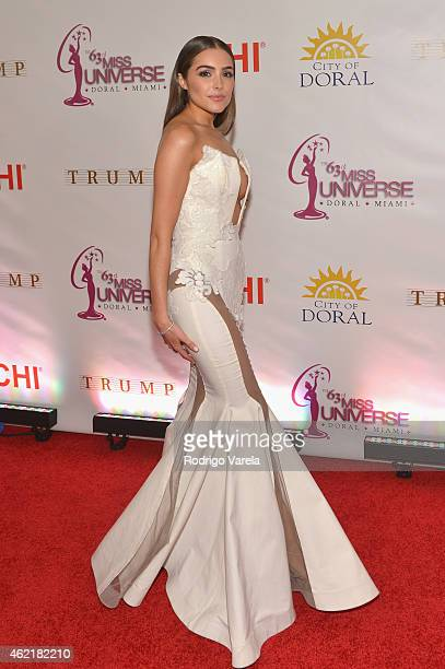 Olivia Culpo attends The 63rd Annual Miss Universe Pageant at Trump National Doral on January 25 2015 in Doral Florida