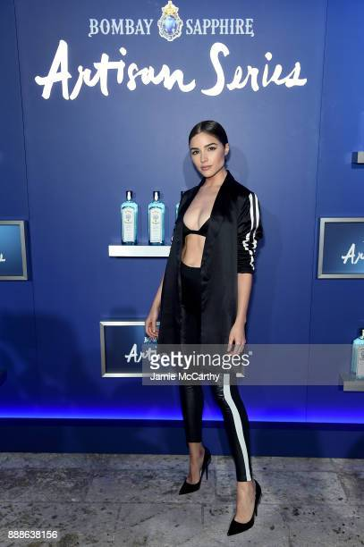 Olivia Culpo attends the 8th Annual Bombay Sapphire Artisan Series Finale Hosted By Issa Rae at Villa Casa Casuarina on December 8 2017 in Miami...