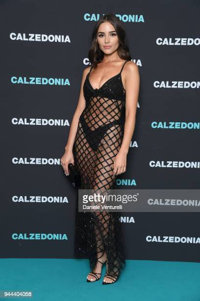 Olivia Culpo attends the Calzedonia Summer Show on April 10 2018 in Verona Italy