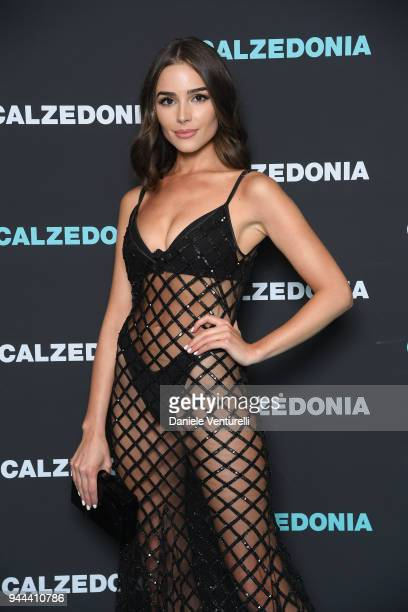 Olivia Culpo attends the Calzedonia Summer Show on April 10, 2018 in Verona, Italy.