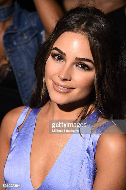 Olivia Culpo attends the Cushnie Et Ochs fashion show during New York Fashion Week The Shows at The Dock Skylight at Moynihan Station on September 9...