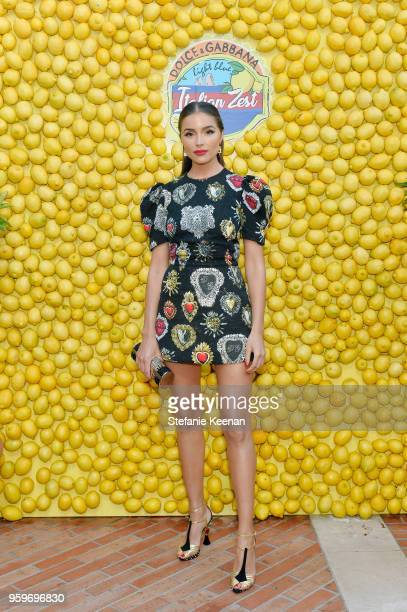 Olivia Culpo attends the Dolce Gabbana Light Blue Italian Zest Launch Event at the Nomad Hotel Los Angeles on May 17 2018 in Los Angeles California