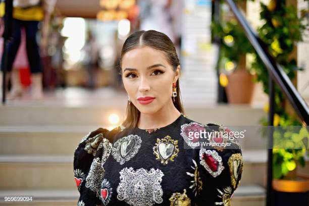 Olivia Culpo attends the Dolce & Gabbana Light Blue Italian Zest Launch Event at the NoMad Hotel Los Angeles on May 17, 2018 in Los Angeles,...