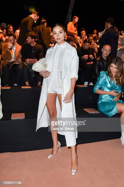 Olivia Culpo attends the Elisabetta Franchi show during Milan Fashion Week Fall/Winter 2020-2021 on February 24, 2020 in Milan, Italy.