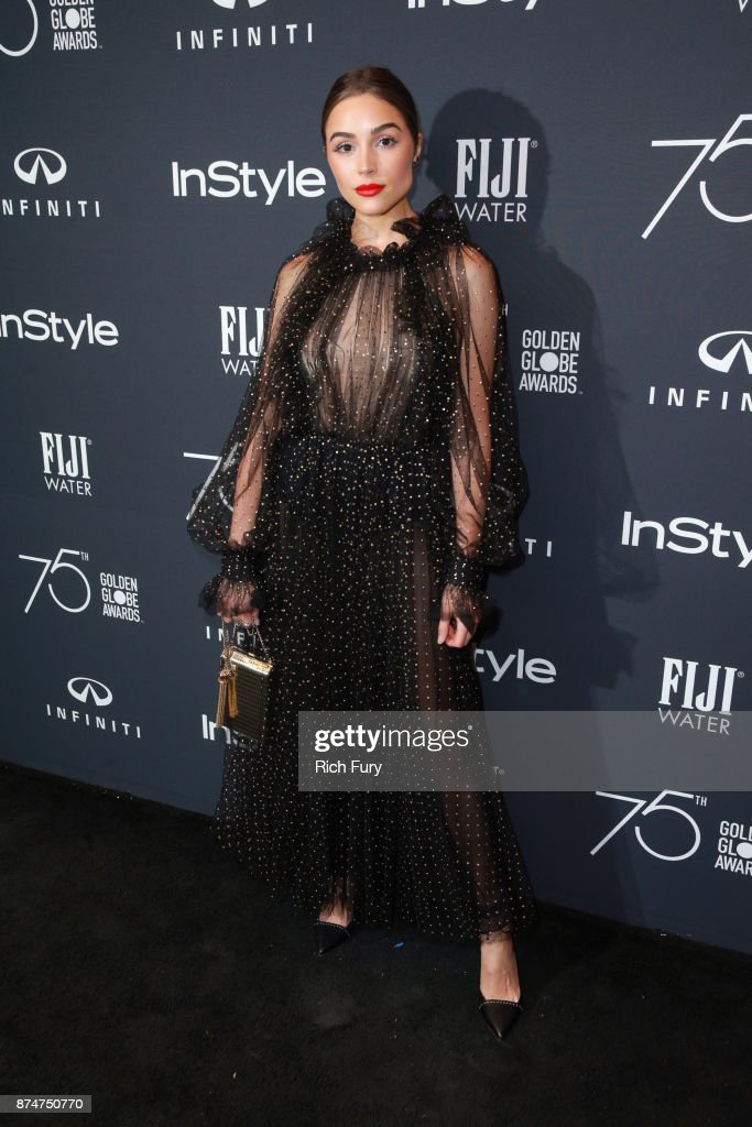 Olivia Culpo attends the Hollywood Foreign Press Association and InStyle celebrate the 75th Anniversary of The Golden Globe Awards at Catch LA on November 15, 2017 in West Hollywood, California.