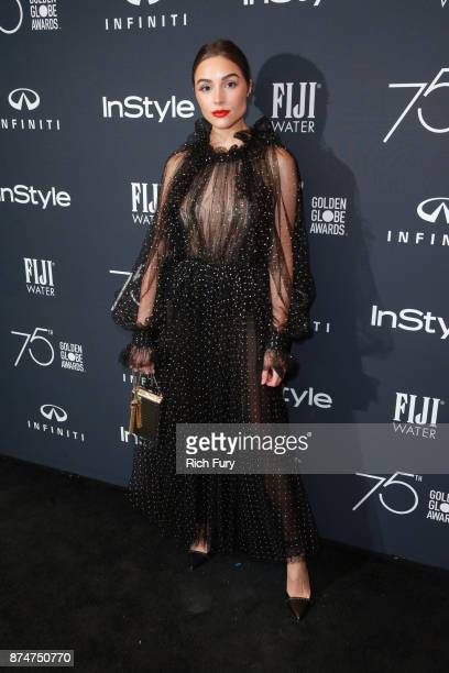 Olivia Culpo attends the Hollywood Foreign Press Association and InStyle celebrate the 75th Anniversary of The Golden Globe Awards at Catch LA on...