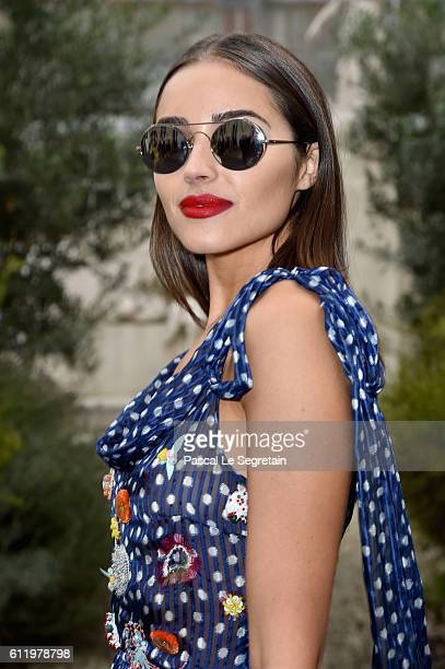 Olivia Culpo attends the John Galliano show as part of the Paris Fashion Week Womenswear Spring/Summer 2017 on October 2 2016 in Paris France